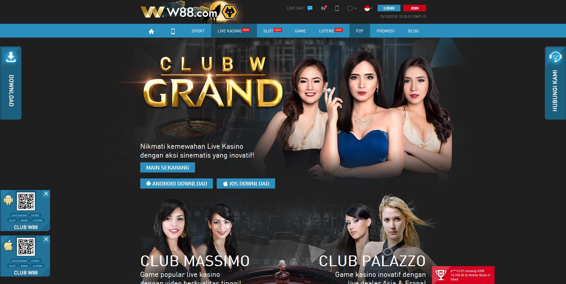 W88 Live Kasino Online